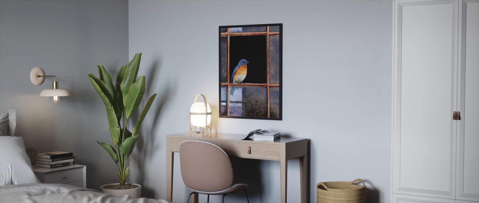 Bluebird-fönster - Inramad tavla - Sovrum