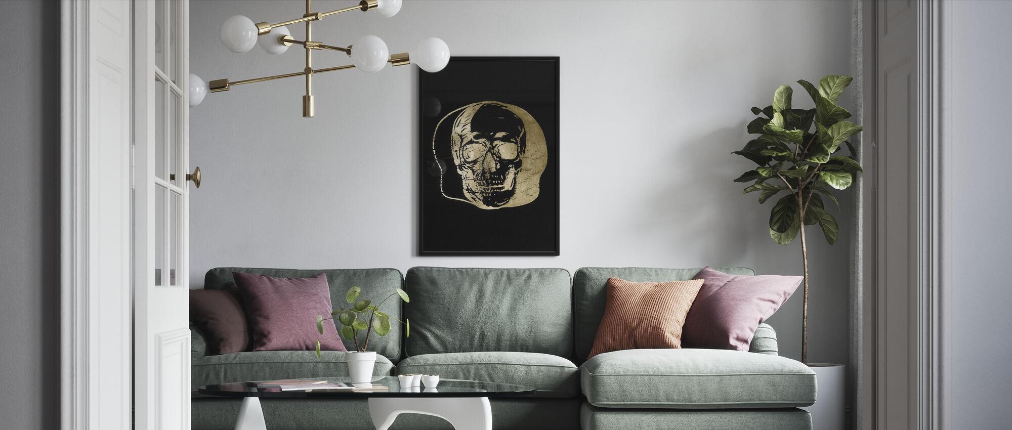 Goldfolie Capitulum II auf Schwarz - Poster - Wohnzimmer