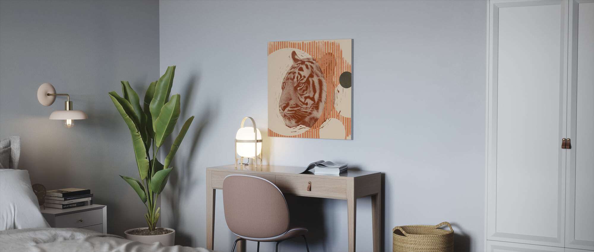 Pop Art Tijger II - Canvas print - Kantoor