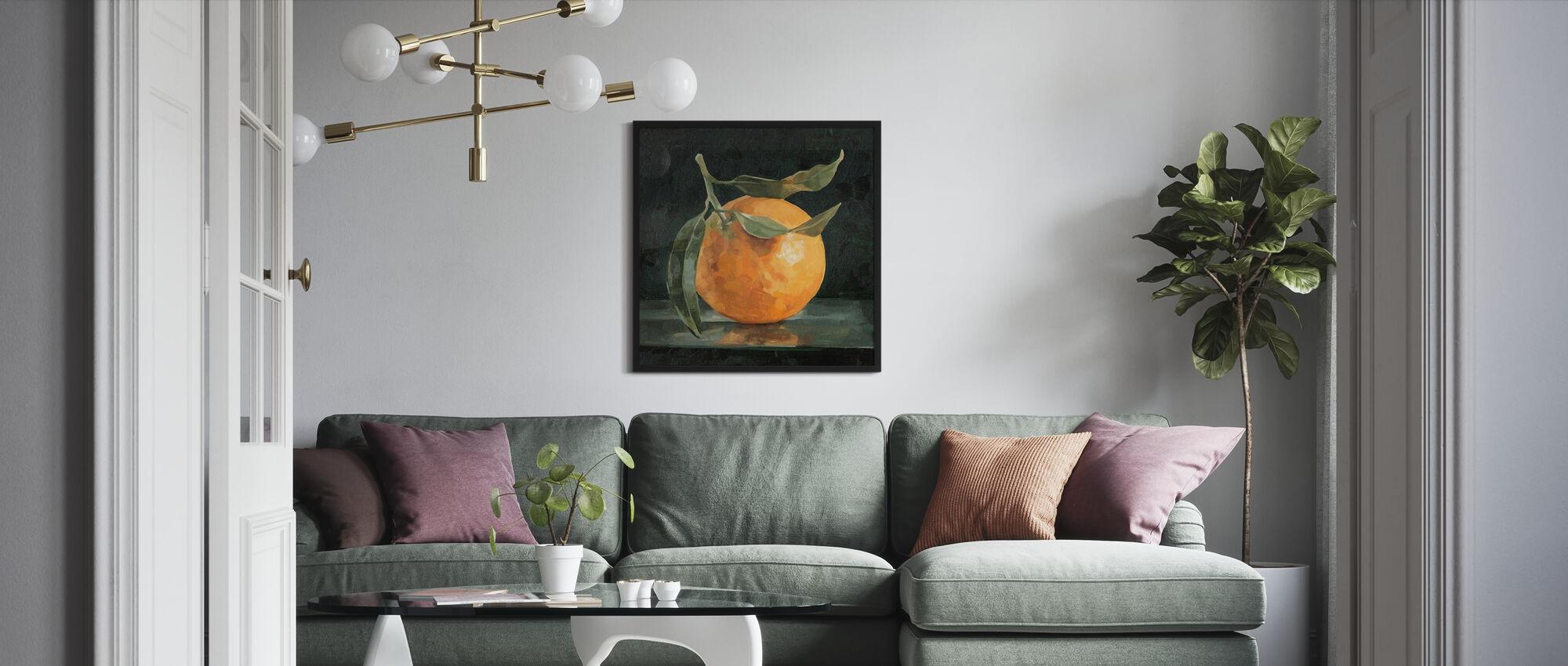 Dark Orange Still Life I - Poster - Living Room