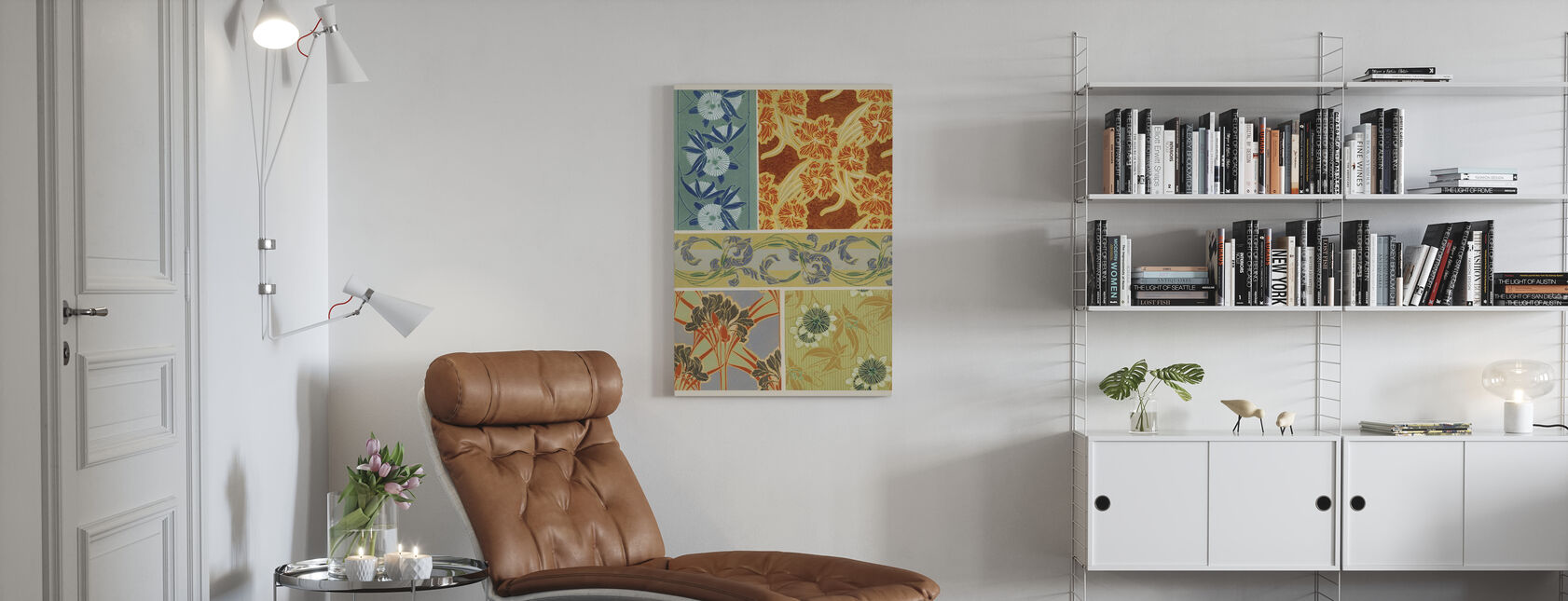 Art Deco Florals IX - Stampa su tela - Salotto