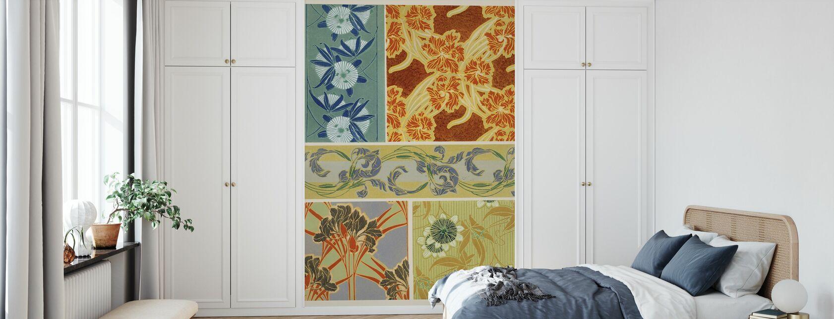 Art Deco Bloemplanten IX - Behang - Slaapkamer