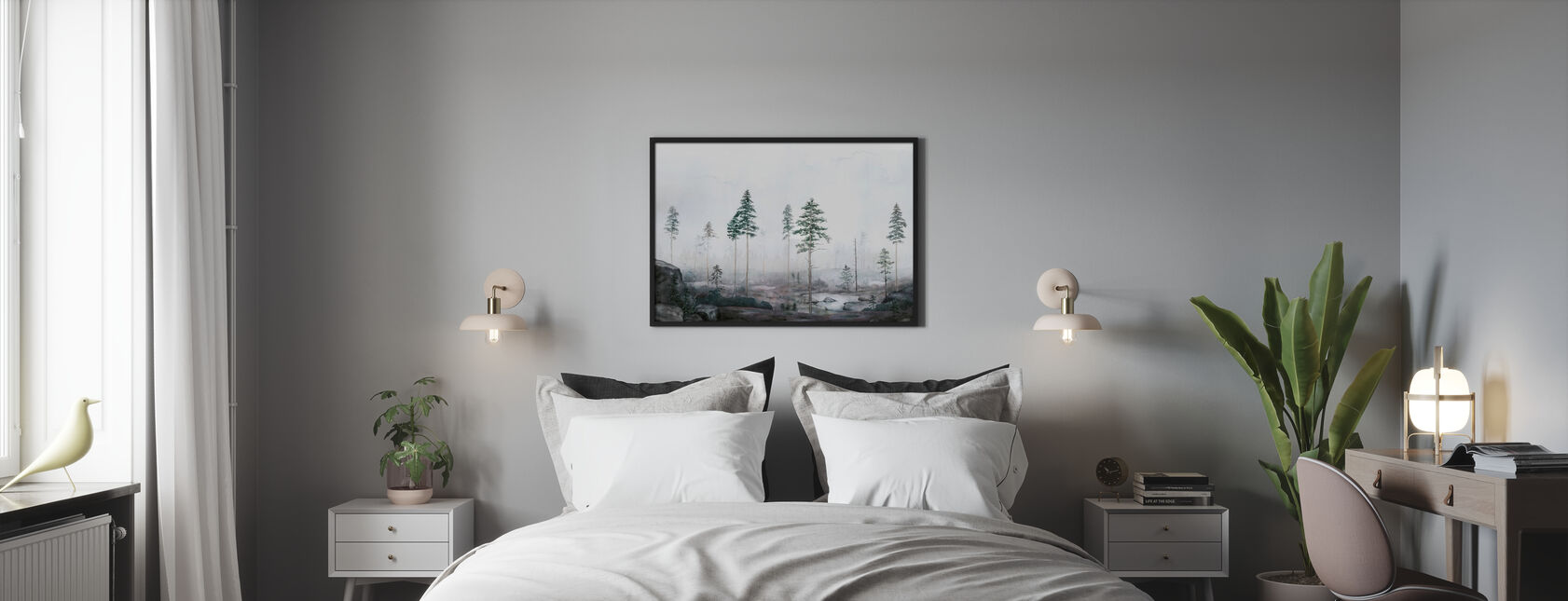 Kalhygge II - Framed print - Bedroom