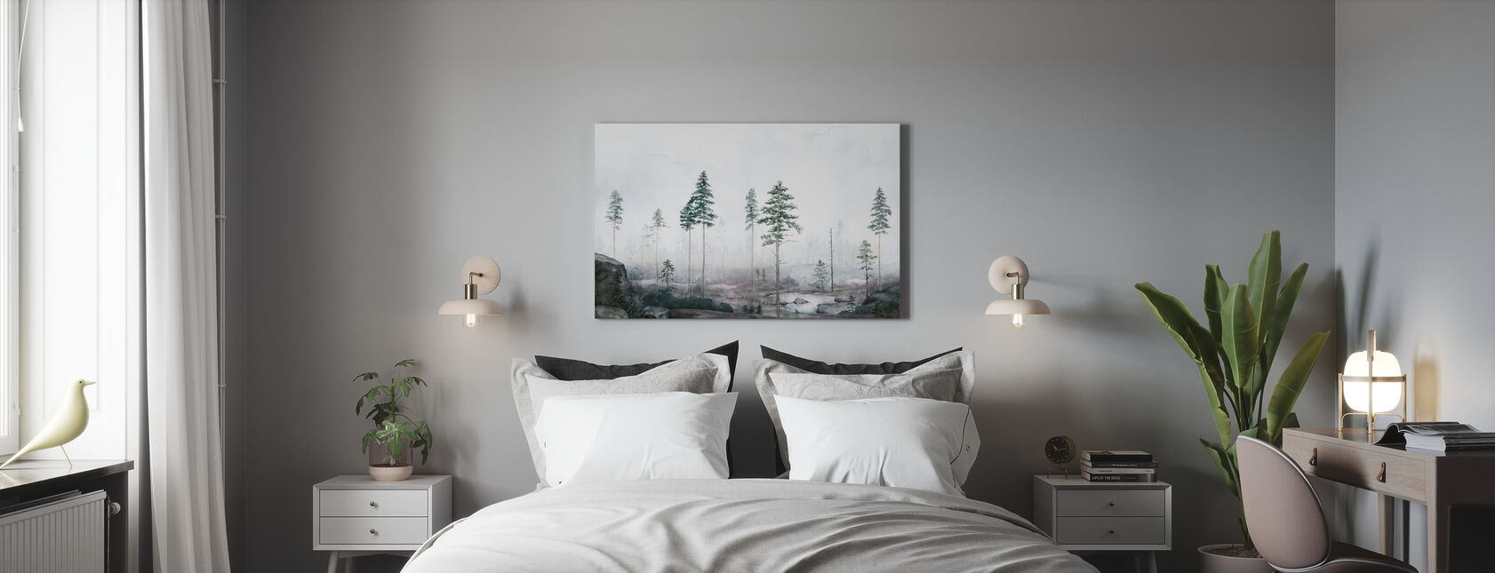 Kalhygge II - Canvas print - Bedroom