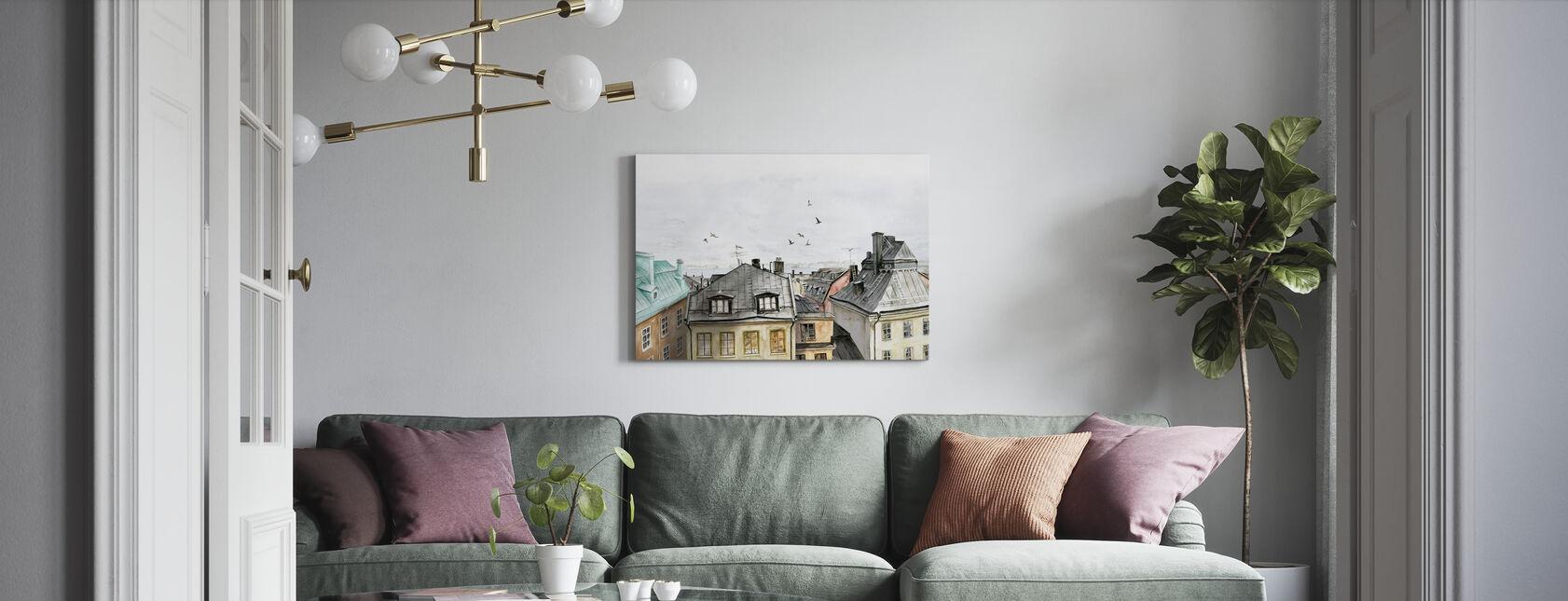 Rooftops II - Canvas print - Living Room