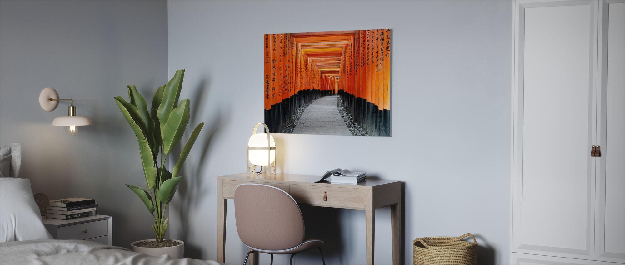Japan Rising Sun - Torii Gates - Canvas print - Office