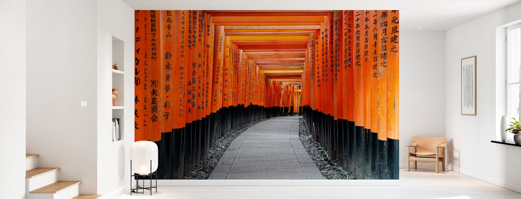 Japan Rijzende Zon - Torii Gates - Behang - Gang