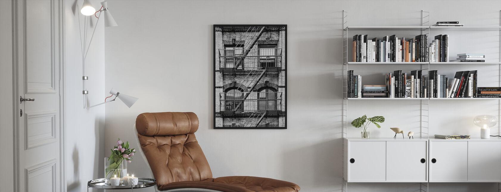New Yorkse gevel - Poster - Woonkamer