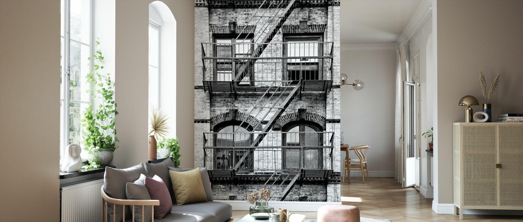 New York Fassade - Tapete - Wohnzimmer