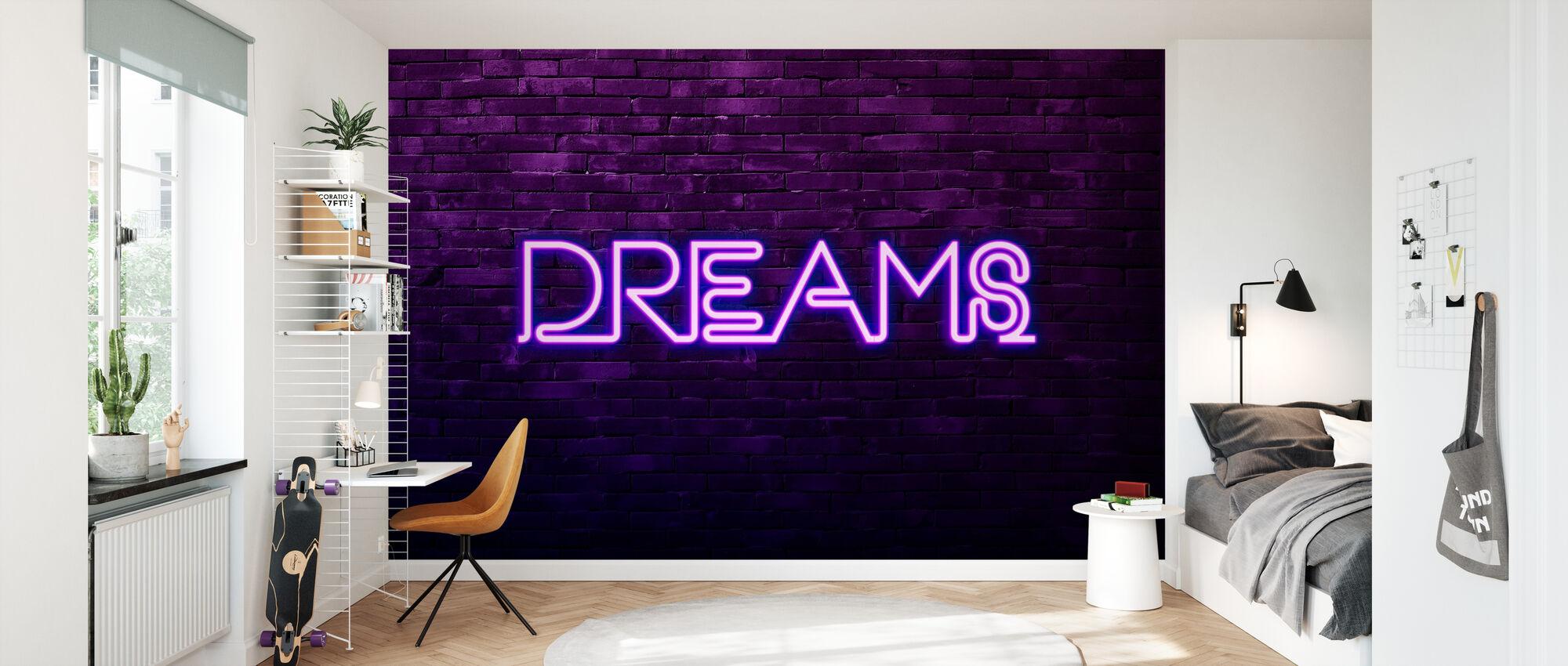 Urban Neon - Dromen - Behang - Kinderkamer