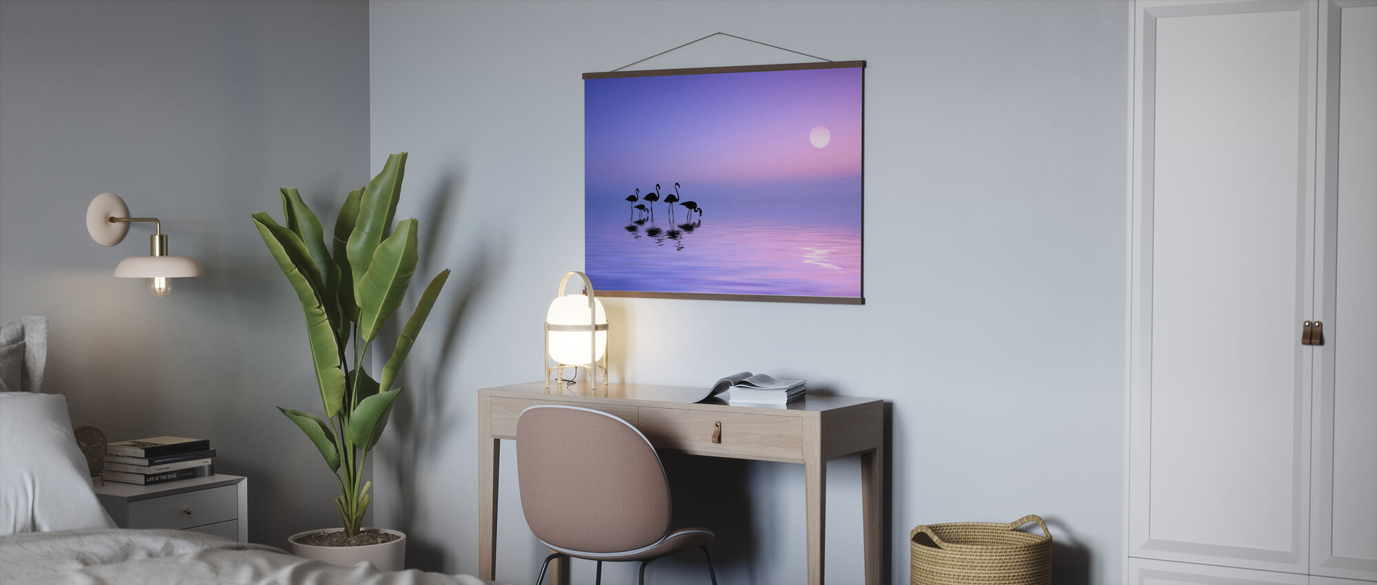 Morning Flamingo - Poster - Office