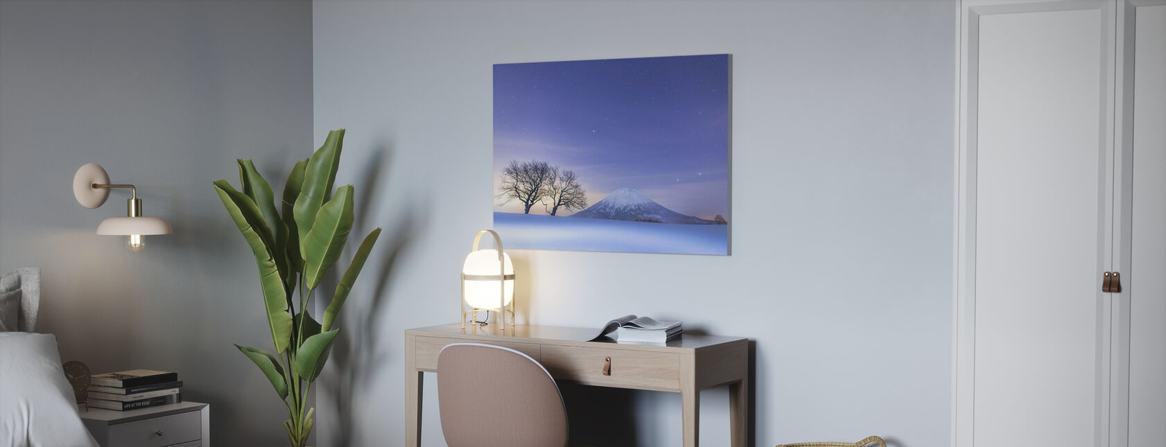 Blue Fantasy - Canvas print - Office