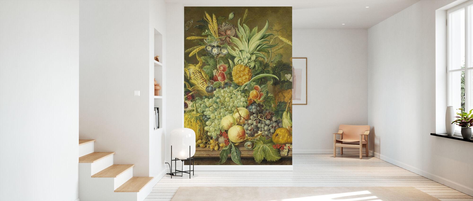 Stillleben mit Früchten - Tapete - Flur