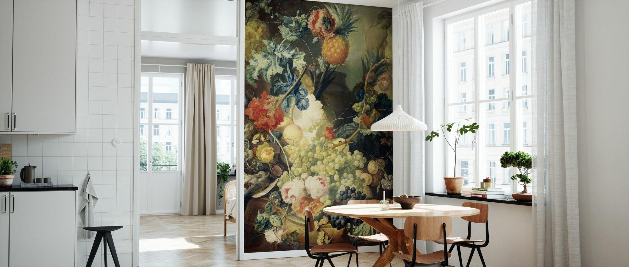 Stillleben mit Blumen - Tapete - Küchen