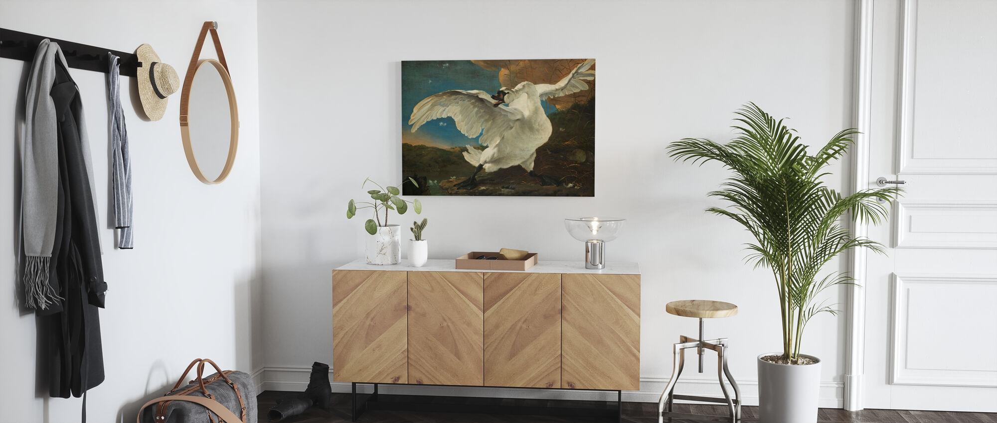 Threatened Swan - Canvas print - Hallway