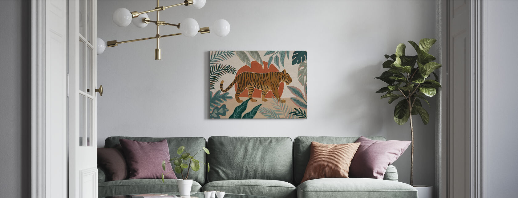 Bellezza Gatto Grande - Stampa su tela - Salotto