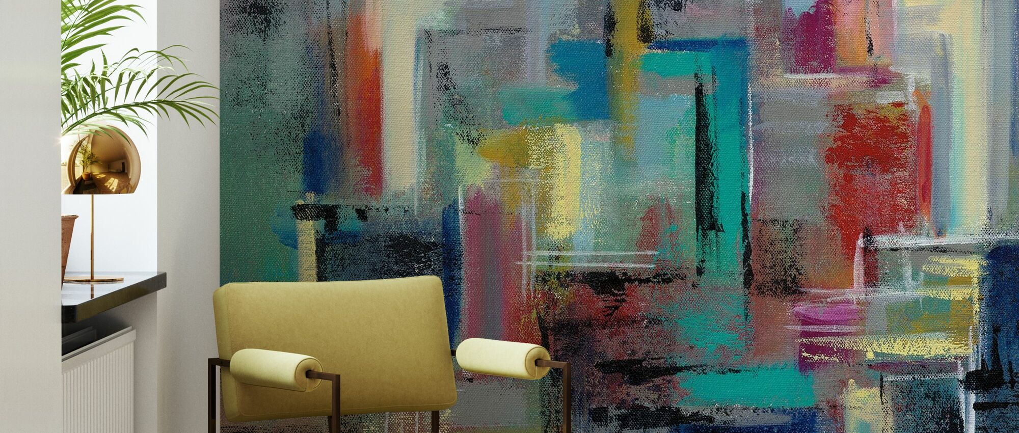 Colorful Day in Manhattan - Wallpaper - Living Room