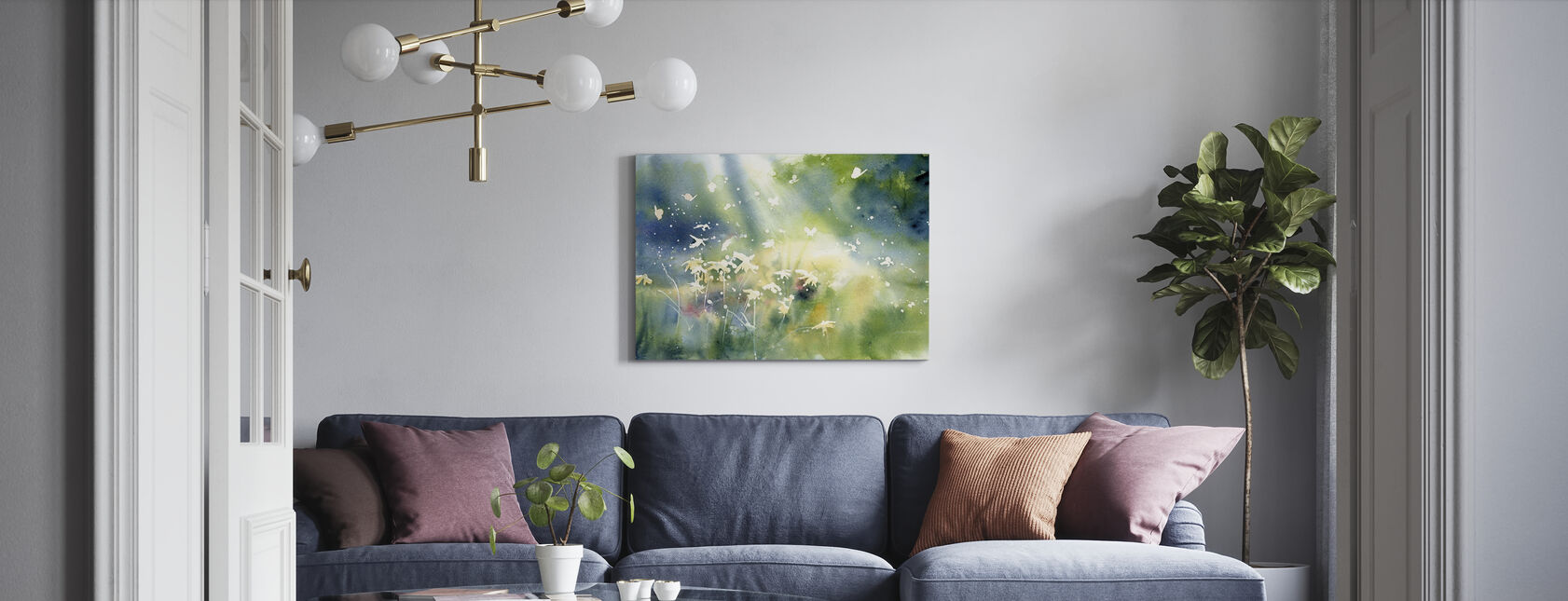 Landskapslys - Lerretsbilde - Stue