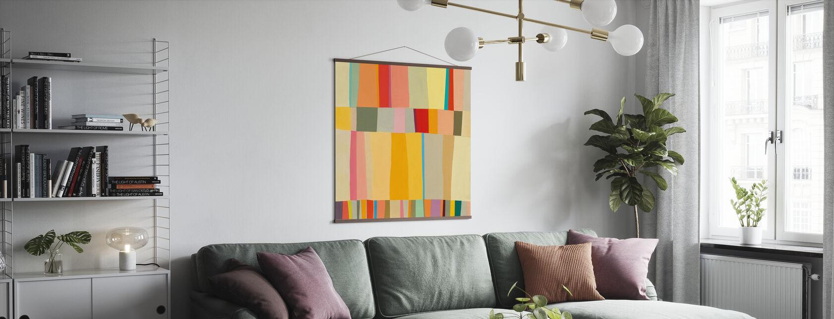 Sunshine Stripes - Poster - Living Room