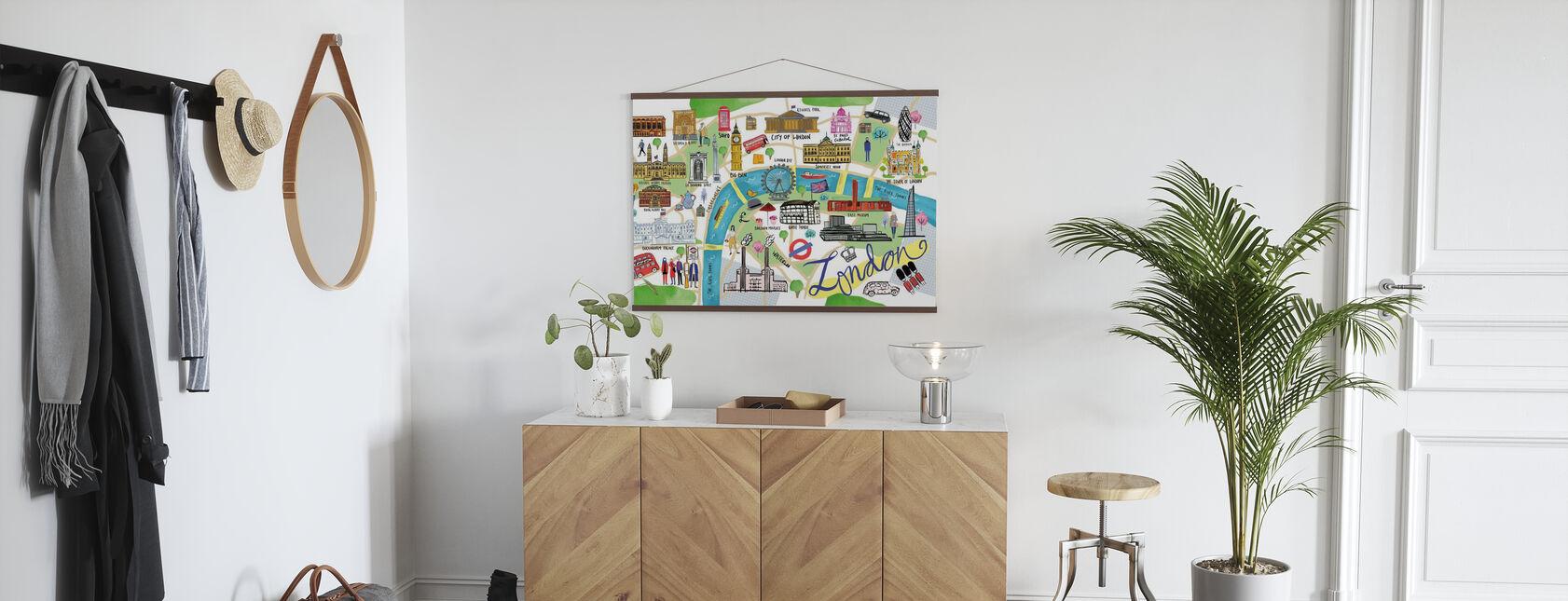 London Map - Poster - Hallway