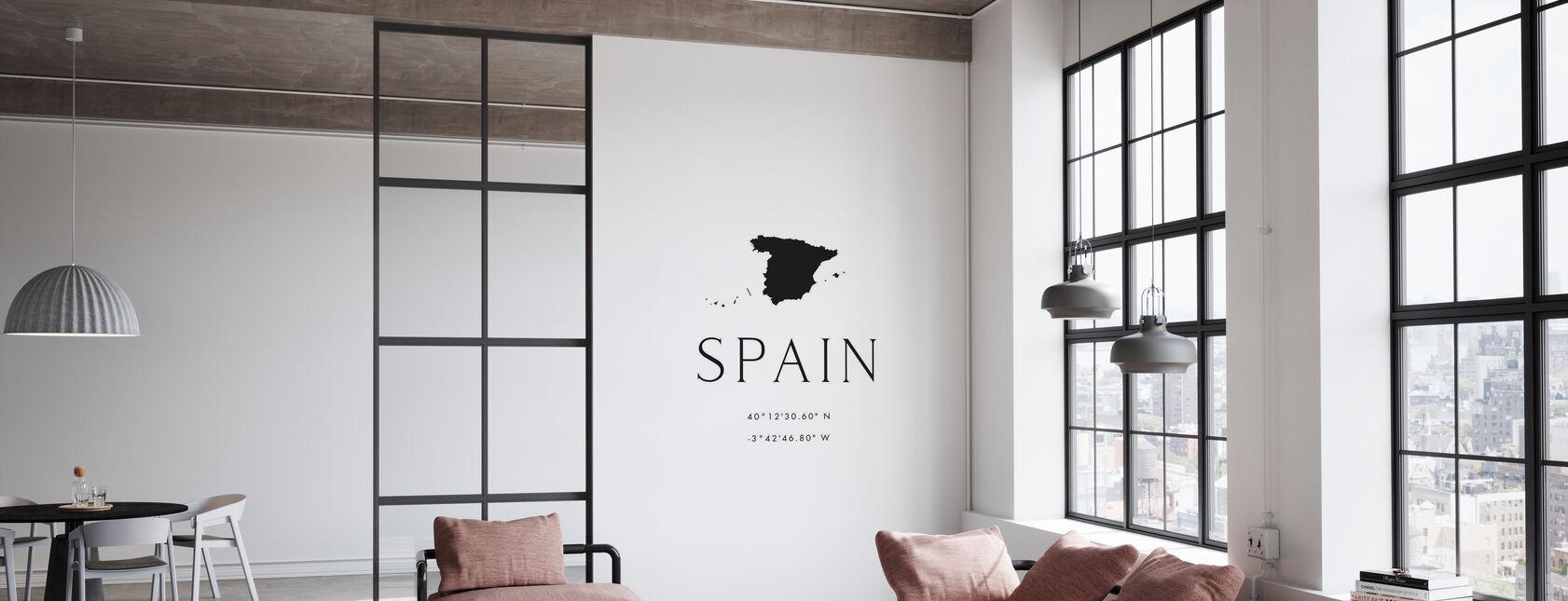 Spanje Coördinaten - Behang - Kantoor