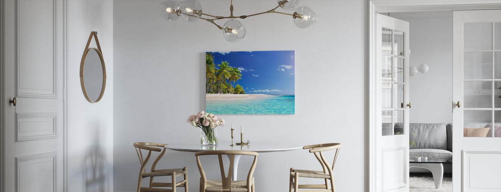 Tropical Beach Island - Canvas print - Kitchen
