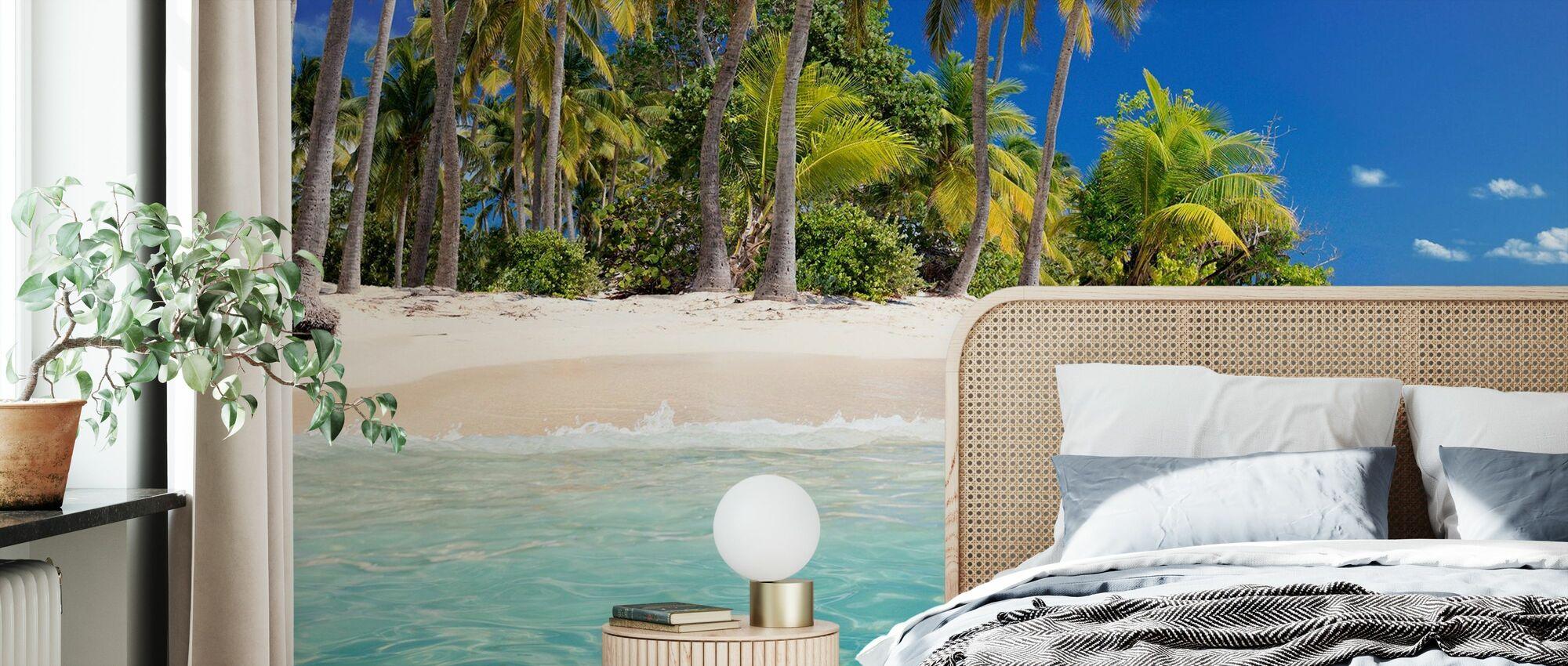 Tropical Beach Island - Wallpaper - Bedroom