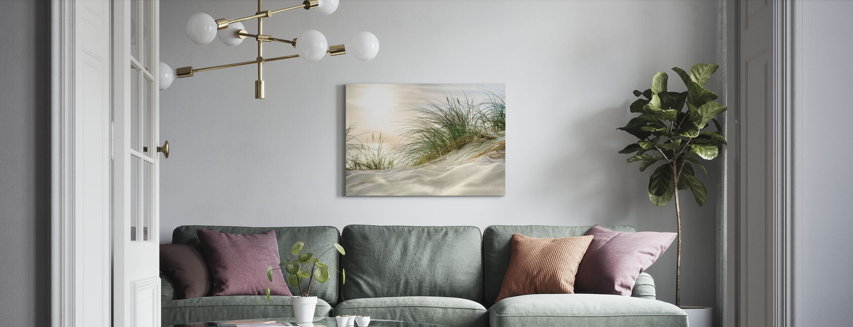 Sandy Dunes and Sea - Canvas print - Living Room