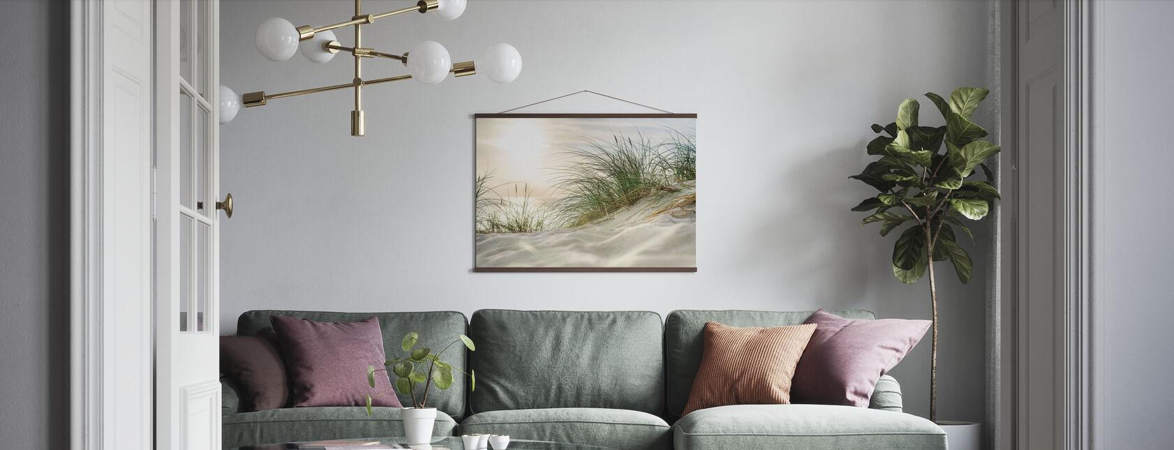 Sanddünen und Meer - Poster - Wohnzimmer