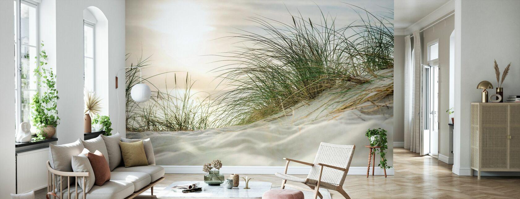 Zandduinen en zee - Behang - Woonkamer