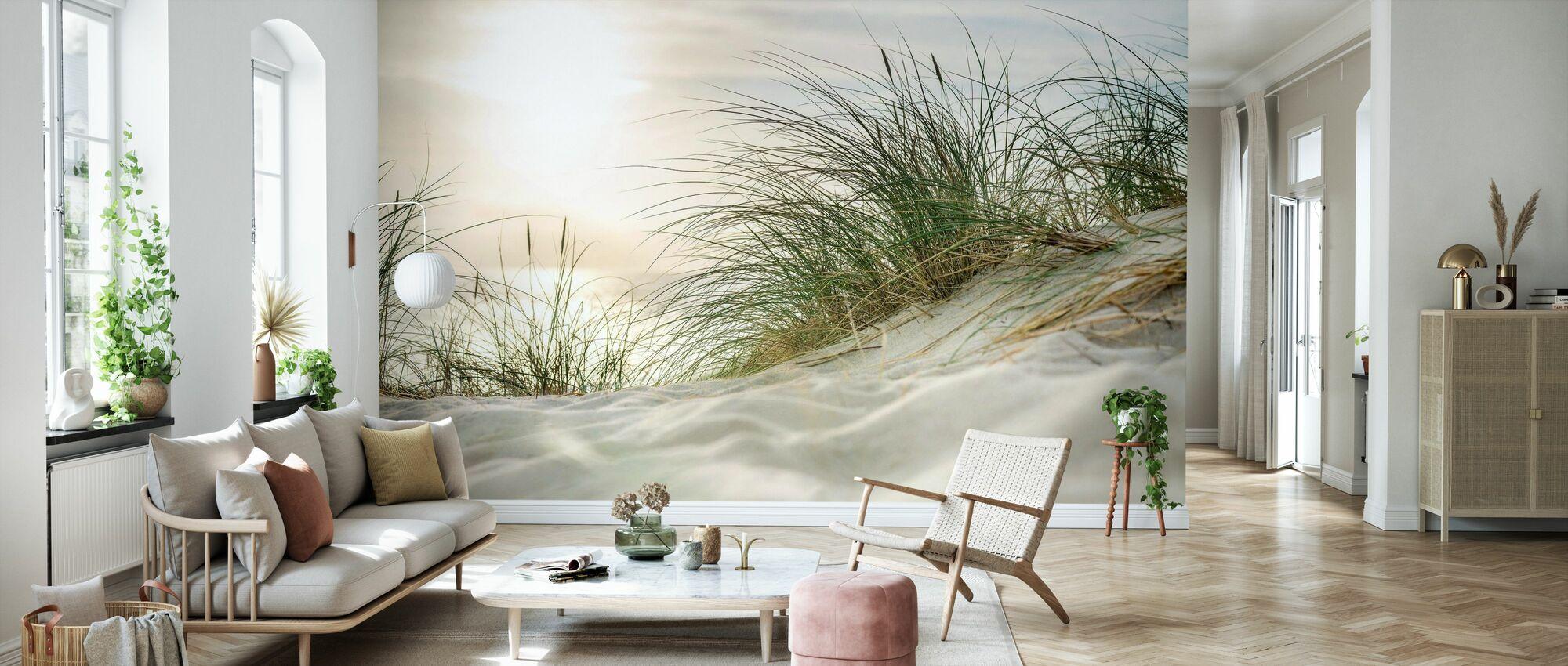 Sandy Dunes and Sea - Wallpaper - Living Room