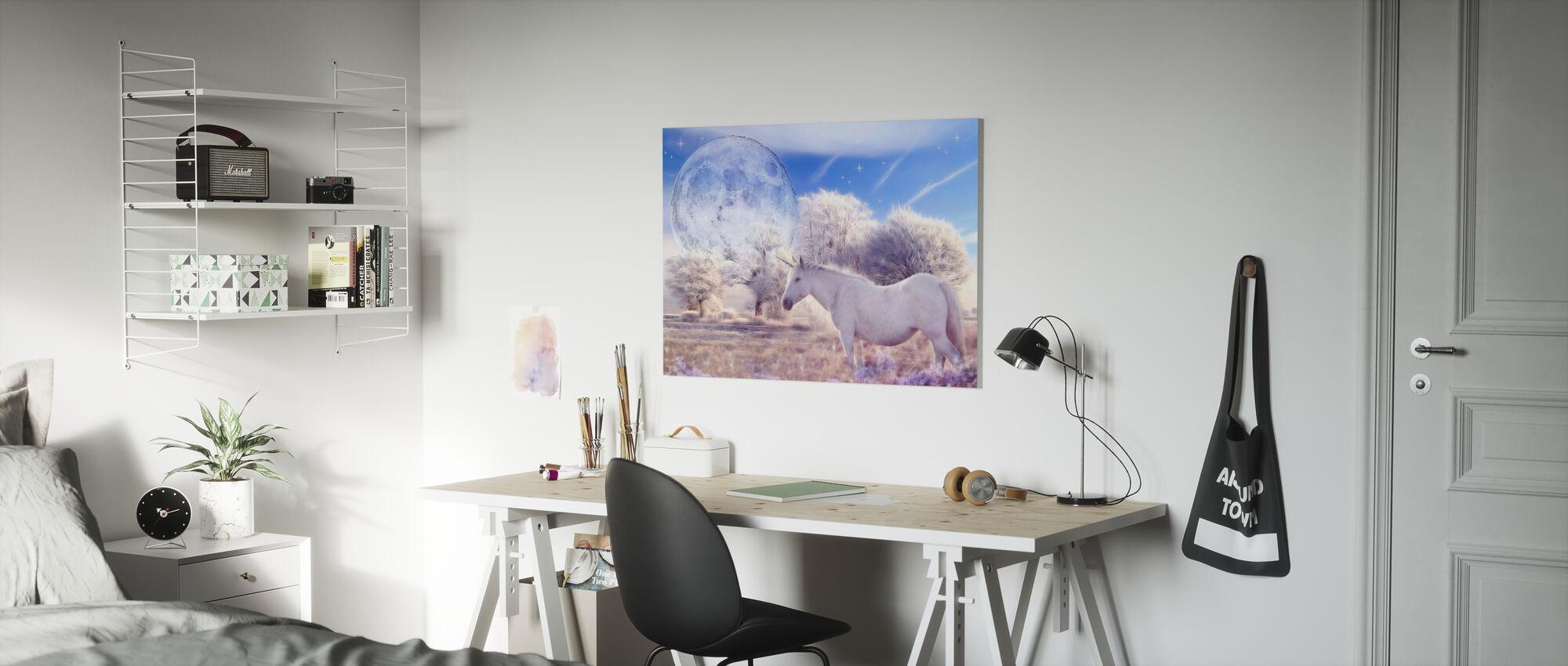 Fantasy Unicorn - Canvas print - Kids Room