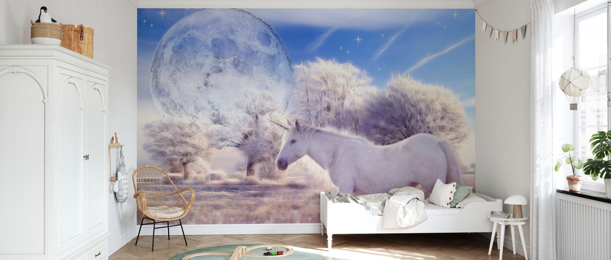 Fantasie Eenhoorn - Behang - Kinderkamer