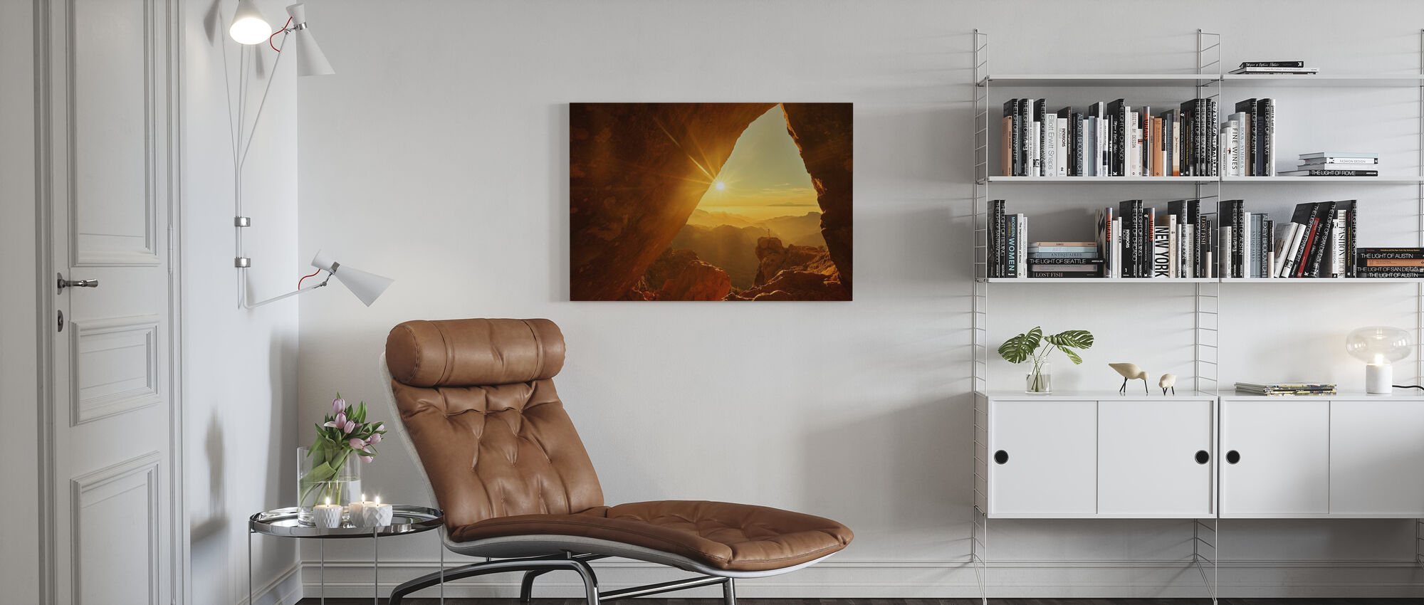 Top of the Mountain - Canvas print - Living Room