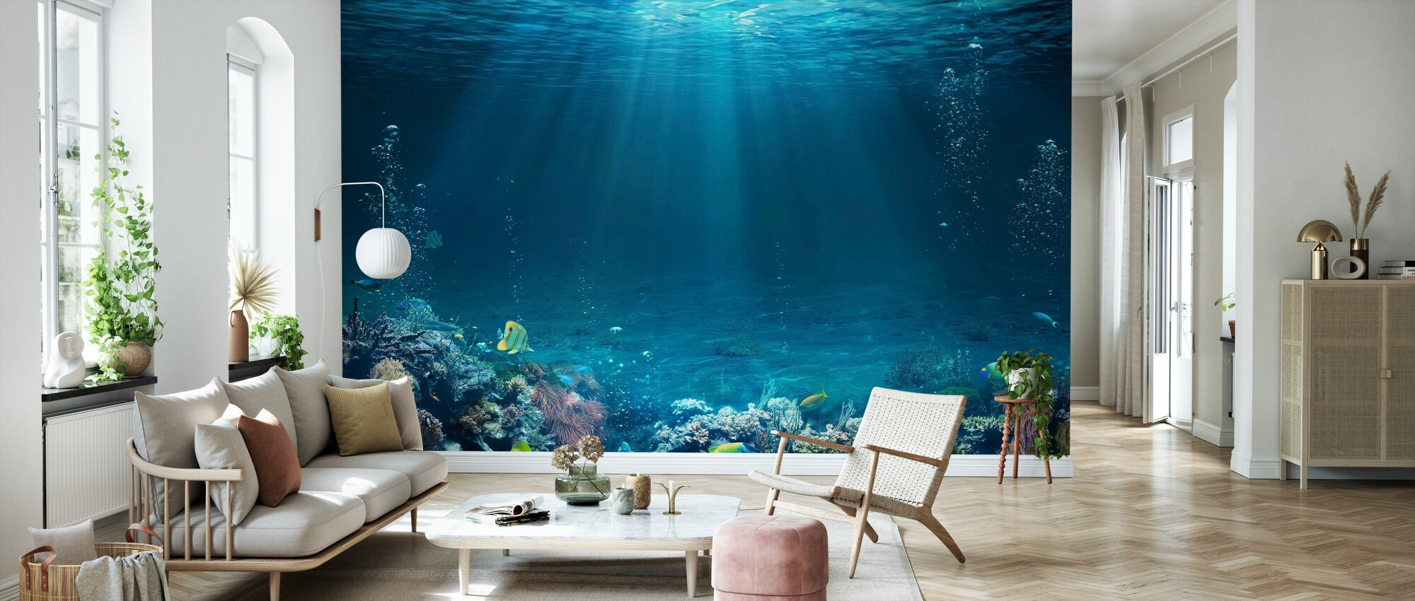 Underwater Scene - Wallpaper - Living Room