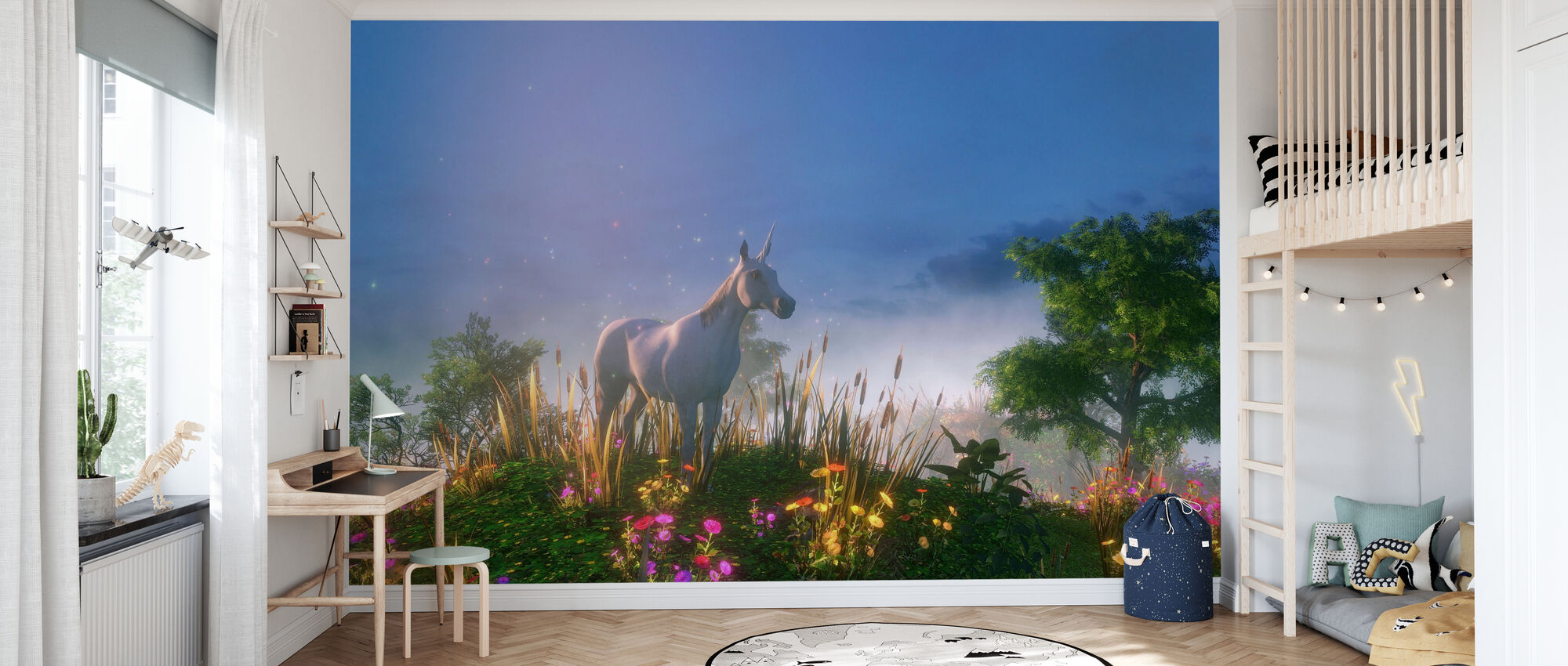 Unicorn in the Wild - Wallpaper - Kids Room