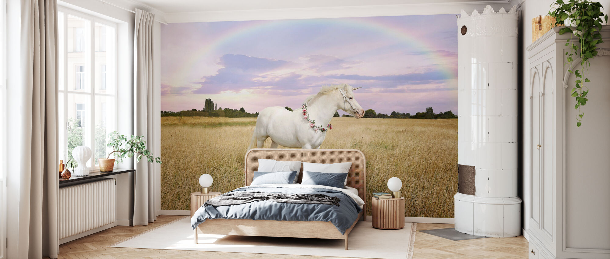 Unicorn and Rainbow - Wallpaper - Bedroom