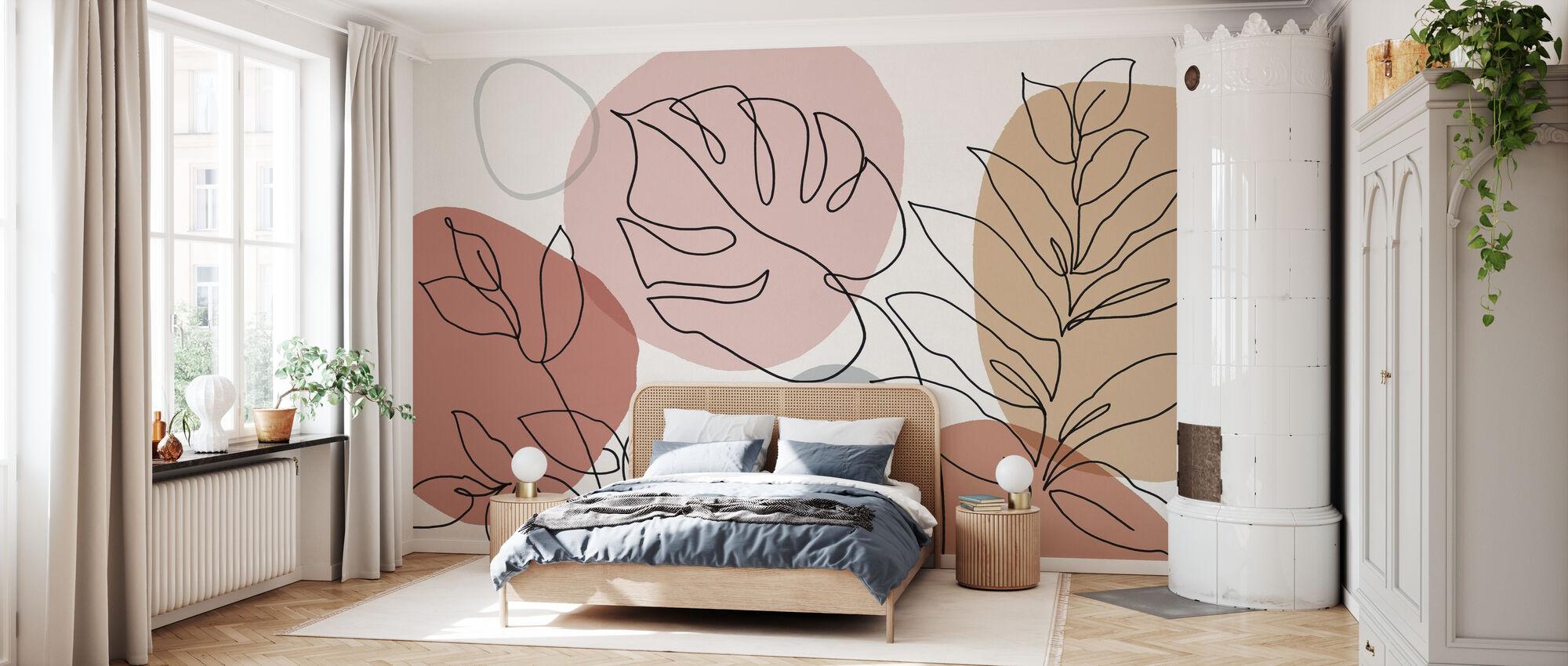 Solo foglie - Carta da parati - Camera da letto