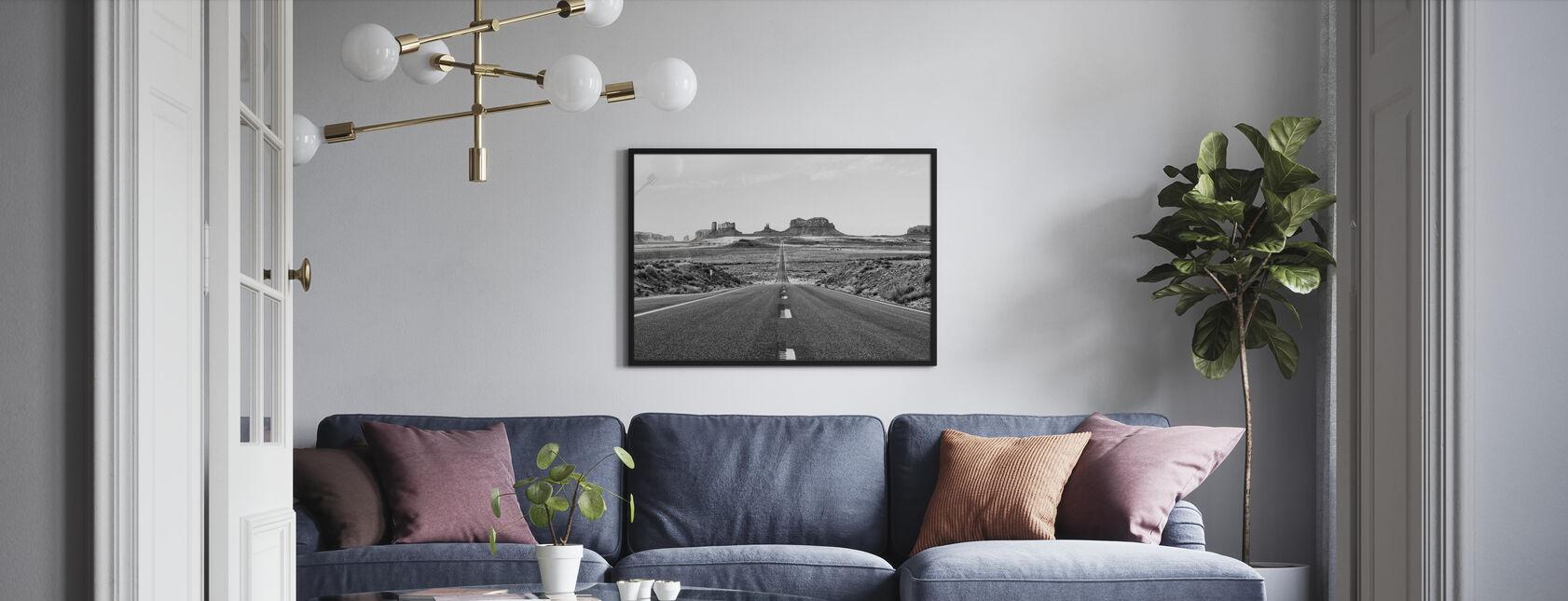 Black Arizona - Monument Valley Road - Poster - Living Room