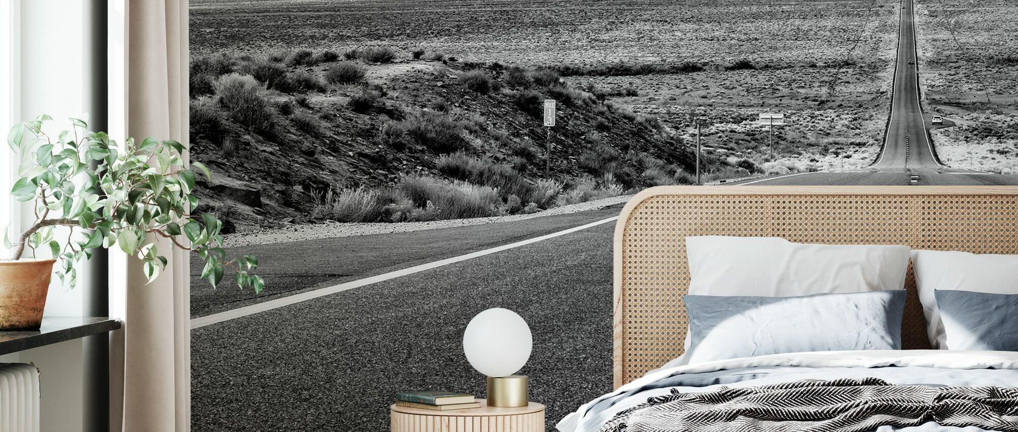 Black Arizona - Monument Valley Road - Wallpaper - Bedroom