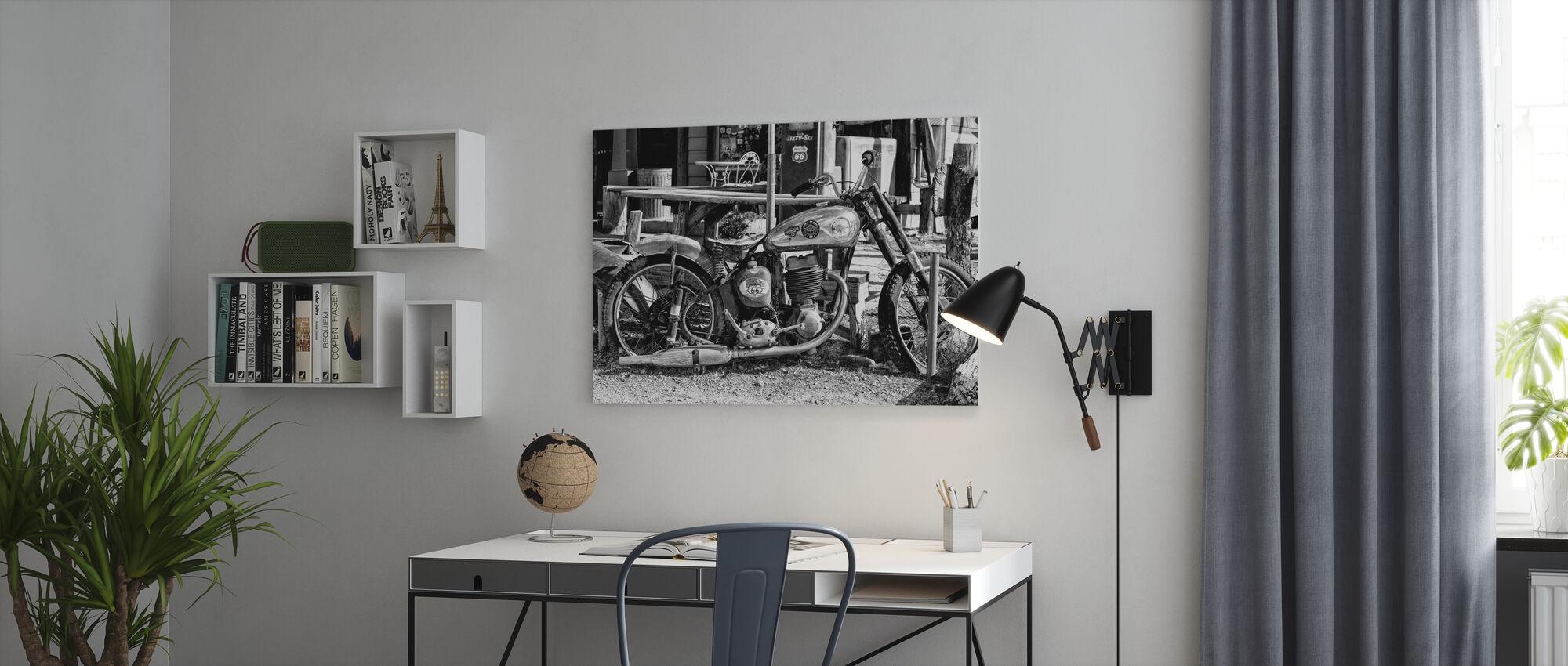 Black Arizona - Motorcycle Route US 66 - Canvas print - Office