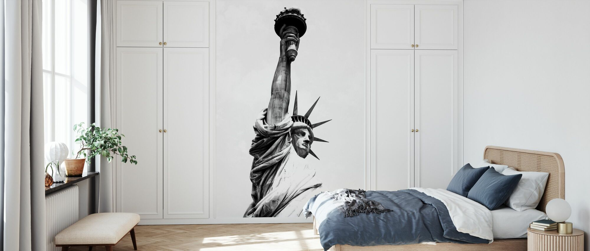 Black Manhattan - Lady Liberty - Tapet - Soveværelse