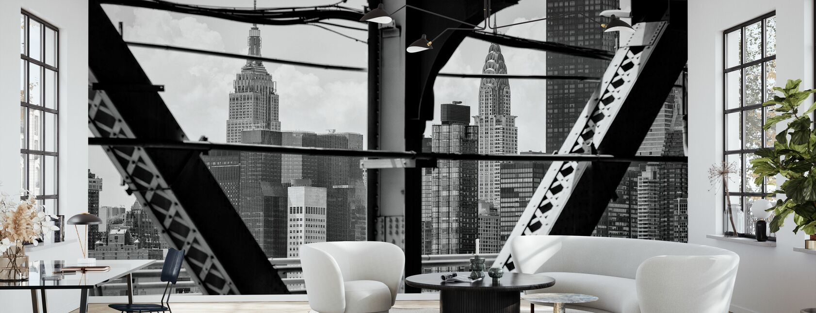 Black Manhattan - Grattacieli - Carta da parati - Salotto