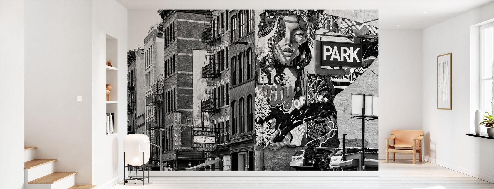 Zwarte Manhattan - Graffiti Park - Behang - Gang