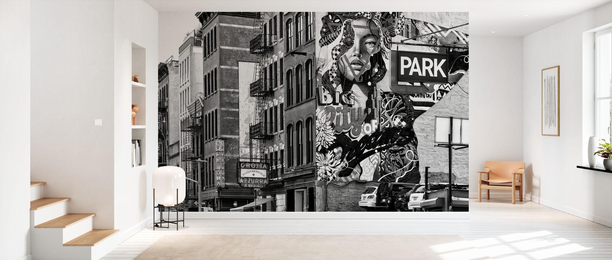 Schwarzes Manhattan - Graffiti-Park - Tapete - Flur