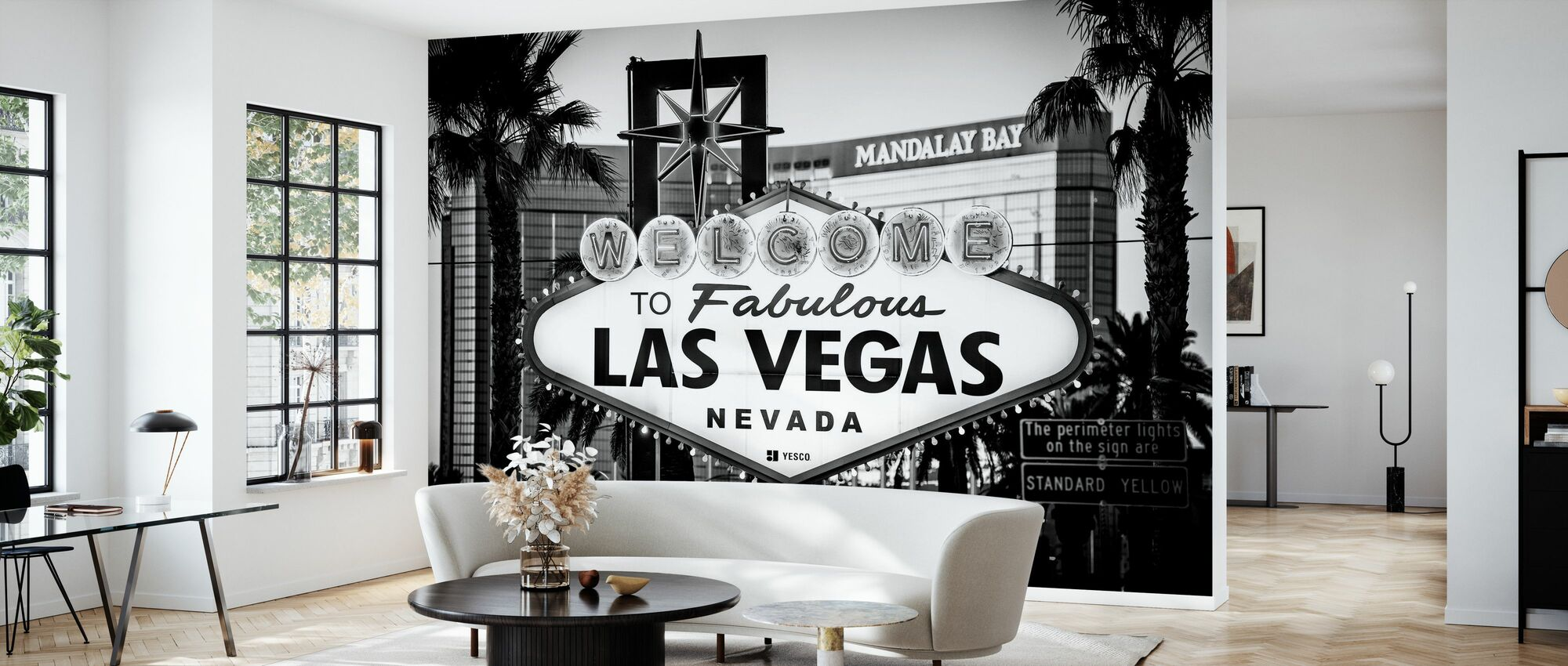 Black Nevada - Welcome to Las Vegas - Wallpaper - Living Room