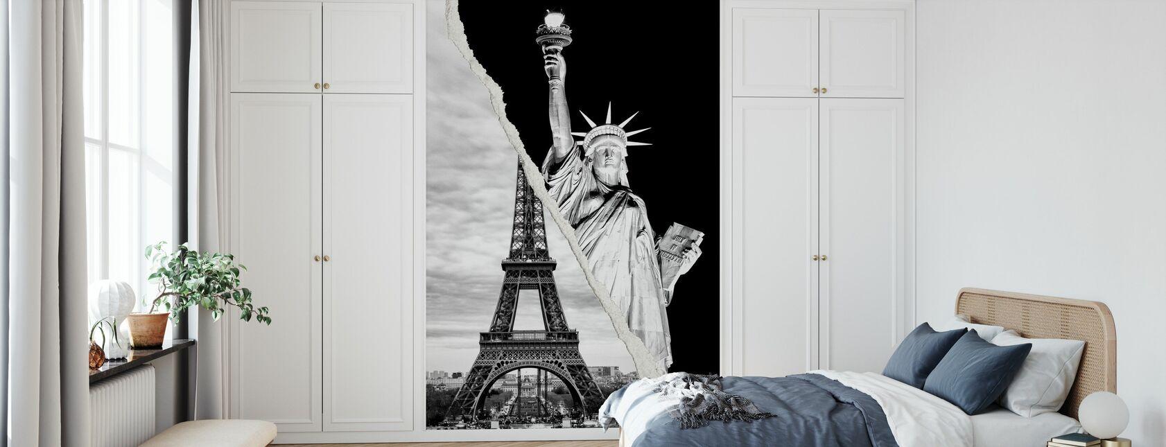Dual Torn Posters - Famous - Wallpaper - Bedroom
