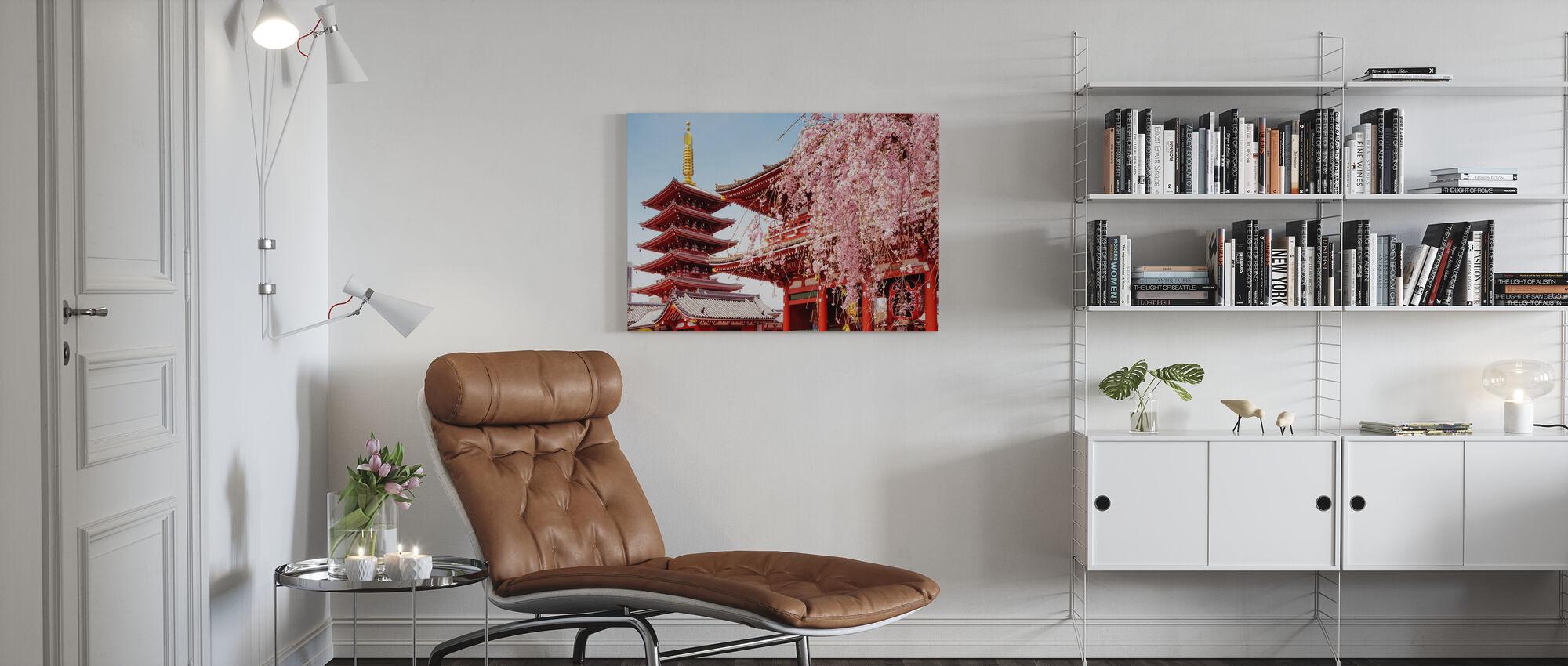 Japan Rising Sun - Senso-Ji Temple - Canvas print - Living Room