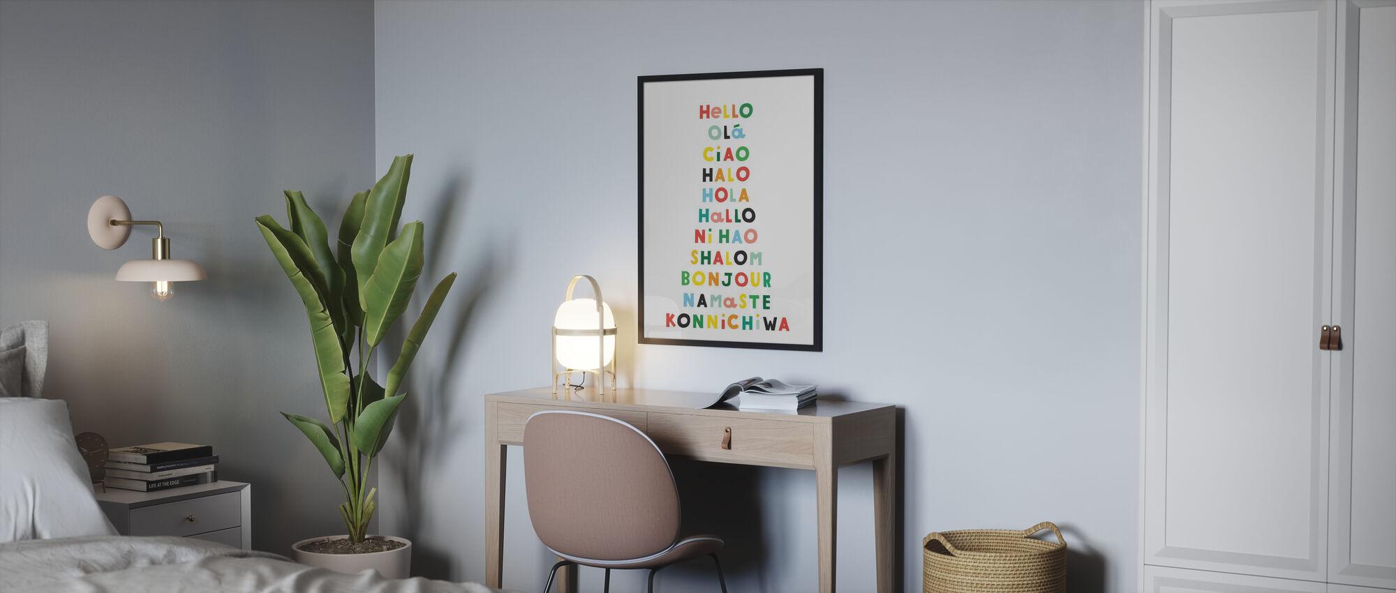 Sprache von Hellos - Poster - Schlafzimmer