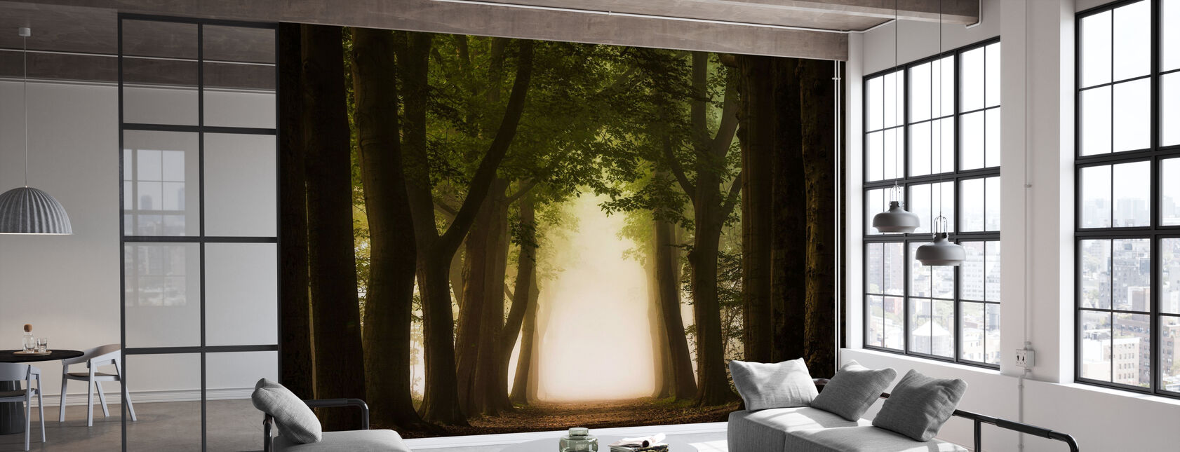 Path Through Forest - Wallpaper - Office